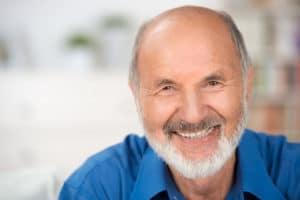 Elderly man smile